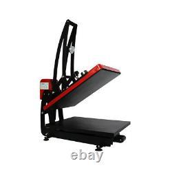USA 16x20 Auto Open Clam Heat Transfer Press Machine T-Shirt Vertical Version