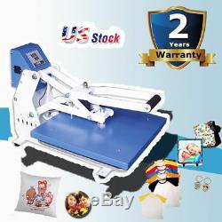USA 20 x 16 Clamshell Auto Open T-shirt Heat Press Machine Horizontal Version