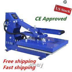 USA 20x16 Auto Open T-shirt Heat Press Transfer Machine Horizontal Version CE
