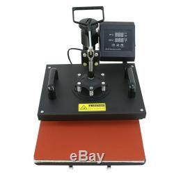 USED 6in1 Digital Transfer Heat Press Machine Sublimation T-Shirt Mug Hat Plate