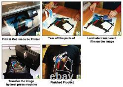 US 23.6 x98ft PU Heat Transfer Vinyl Roll Iron on T-shirt Press White Printable
