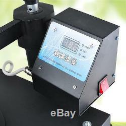 US 8 in1 Transfer Heat Press Machine Digital LCD timer T-Shirts Mugs Hats Plates