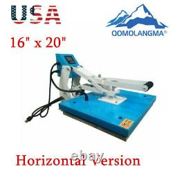 US Stock-16 x 20 Clamshell T-shirt Heat Press Machine Horizontal Version