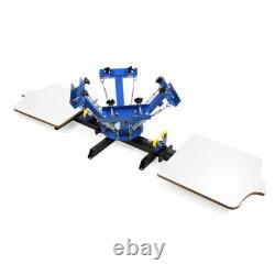 US Stock 4 Color 2 Station Silk Screen Printing Press for DIY T-Shirt Printing