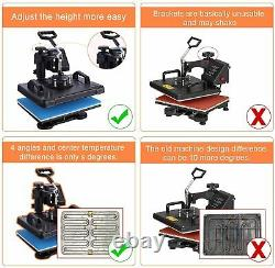 Upgraded 8 in 1 Heat Press Transfer Machine Combo T-Shirt Printing Sublimation