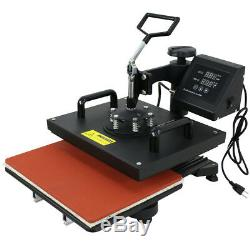 Used 6 IN 1 COMBO HEAT PRESS T-SHIRT HAT CAP MUG DIGITAL TRANSFER SUBLIMATION