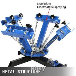 VEVOR 4 Color 1 Station Silk Screen Printing Machine Carousel T-Shirt Pressing