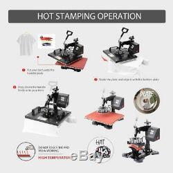VIVOHOME 5in1 Clamshell Heat Press Machine Digital Sublimation T-Shirt Mug DIY
