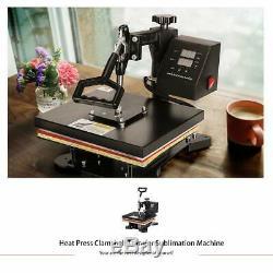 VIVOHOME Heat Press Machine 360° Swing Away Digital Sublimation T-Shirt Transfer